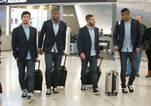 OLYMPIACOS FC dressed in  REPLAY jeans departed to Kazakhstan