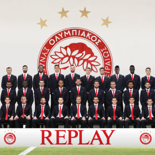 Olympiacos wears Replay Suits